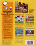 Snoopy's Game Club DOS Back Cover