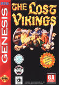 The Lost Vikings Genesis Front Cover