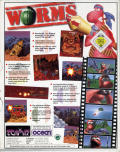 Worms Amiga CD32 Back Cover
