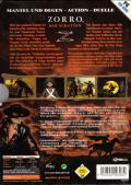 The Shadow of Zorro Windows Back Cover