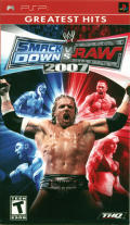 WWE SmackDown vs. Raw 2007 PSP Front Cover