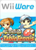 Family Table Tennis Wii Front Cover