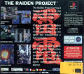 The Raiden Project PlayStation Back Cover