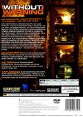 Without Warning PlayStation 2 Back Cover