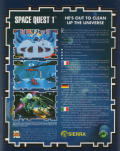 Space Quest I: Roger Wilco in the Sarien Encounter DOS Back Cover