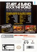 Rock Band Wii Back Cover