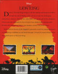 The Lion King DOS Back Cover