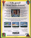 Maniac Mansion Commodore 64 Back Cover