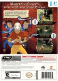 Avatar: The Last Airbender Wii Back Cover