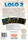 Adventures of Lolo 2 NES Back Cover