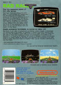 Rad Racer NES Back Cover