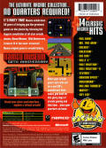 Namco Museum 50th Anniversary Xbox Back Cover