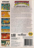 Sunset Riders Genesis Back Cover