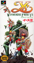 Ys III: Wanderers from Ys SNES Front Cover