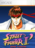 Street Fighter II': Hyper Fighting Xbox 360 Front Cover