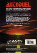 Autoduel DOS Back Cover