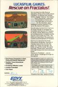 Rescue on Fractalus! Atari 8-bit Back Cover