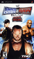 WWE Smackdown vs. Raw 2008 PSP Front Cover