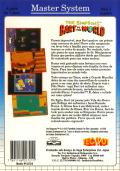 The Simpsons: Bart vs. the World SEGA Master System Back Cover