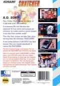 Snatcher SEGA CD Back Cover
