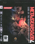 Metal Gear Solid 4: Guns of the Patriots PlayStation 3 Front Cover