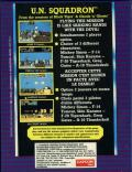 U.N. Squadron ZX Spectrum Back Cover