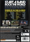 Rock Band Xbox 360 Back Cover