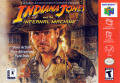 Indiana Jones and the Infernal Machine Nintendo 64 Front Cover