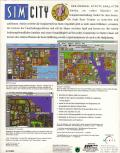 SimCity Windows 3.x Back Cover