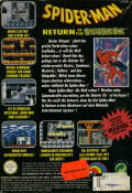 Spider-Man: Return of the Sinister Six NES Back Cover
