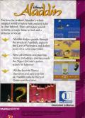 Disney's Aladdin Game Gear Back Cover