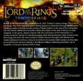 The Lord of the Rings: The Third Age Game Boy Advance Back Cover