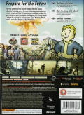 Fallout 3 Xbox 360 Back Cover