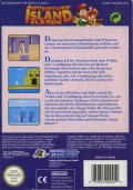 Adventure Island NES Back Cover