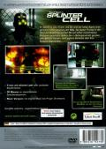 Tom Clancy's Splinter Cell PlayStation 2 Back Cover
