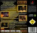 Tomb Raider: The Last Revelation PlayStation Back Cover