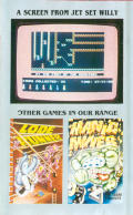 Jet Set Willy Amstrad CPC Inside Cover