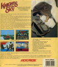 Knights of the Sky Amiga Back Cover