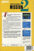 Impossible Mission II Amiga Back Cover