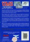 UMS: The Universal Military Simulator Amiga Back Cover