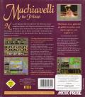 Machiavelli the Prince DOS Back Cover