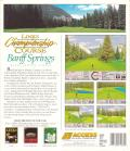 Links: Championship Course - Banff Springs DOS Back Cover