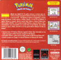 Pokémon Red Version Game Boy Back Cover