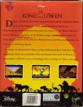 The Lion King Amiga Back Cover