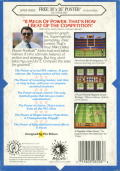 Mike Ditka Ultimate Football Genesis Back Cover