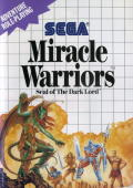 Miracle Warriors: Seal of the Dark Lord SEGA Master System Front Cover