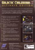 Galactic Civilizations II: Ultimate Edition Windows Back Cover