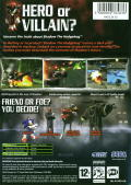Shadow the Hedgehog Xbox Back Cover