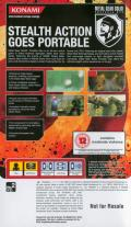 Metal Gear Solid: Portable Ops PSP Back Cover