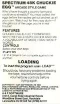 Chuckie Egg ZX Spectrum Inside Cover